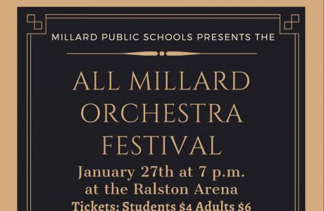 All Millard Orchestra Poster, text from picture is in announcement itself.